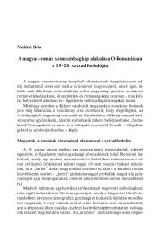 A magyar–román szomszédságkép alakulása Ó-Romániában a 19 ...