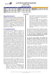Octobre 2010 - Efigest Asset Management