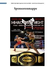 Sponsorenmappe - MMAC-Modern-Martial-Arts-Center