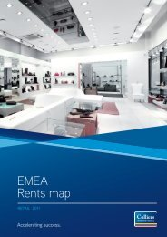 EMEA Retail Rents Map - Colliers
