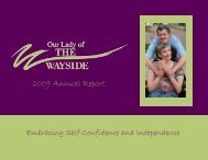 2009 Annual Report - Our Lady of the Wayside