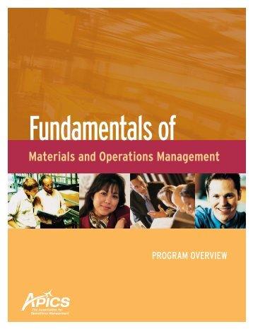 Fundamentals of - APICS Toledo