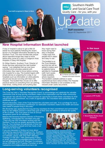 Issue 40 - September 2011 - Southern Health and Social Care Trust