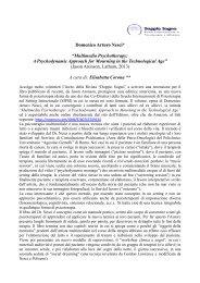 Multimedia Psychotherapy: A Psychodynamic ... - Doppio Sogno