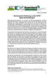 Gemeinsame Erklärung zu den WTO Agrarverhandlungen - Globale ...