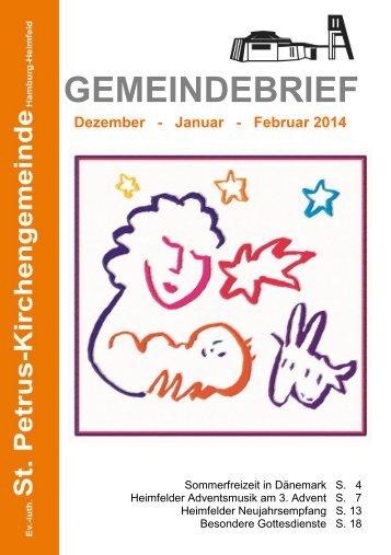 GEMEINDEBRIEF - St. Petrus – Hamburg-Heimfeld