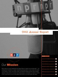 Our Mission - National Public Radio
