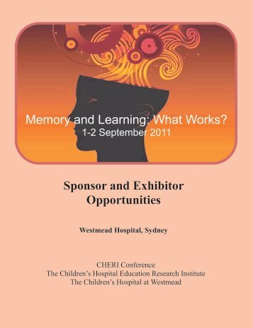 Sponsor and Exhibitor Opportunities - CHERI - The Children's ...