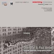 Einladung zu den Vernissagen - Galerie / Atelier III