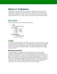 Demo 4: Collisions - LARC