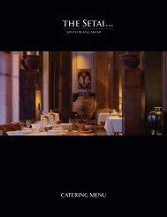CATERING MENU - The Setai
