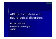 ADHD in children with neurological disorders