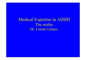 Medical Expertise in ADHD - CHERI - The Children's Hospital ...