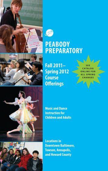 Spring 2012 Catalog - Peabody Institute - Johns Hopkins University