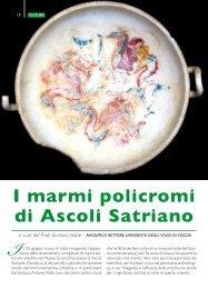 I marmi policromi di Ascoli Satriano - Giuliano Volpe - Università ...