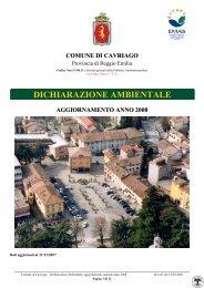 dichiarazione ambientale aggiornamento anno 2008 - Aicod