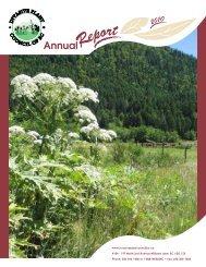 Annual Report 2010 - Invasive Plant Council of BC
