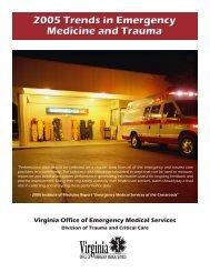 2005 Trends in Emergency Medicine and Trauma - Full Report (PDF)