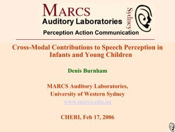 cross modal perception in infants essay Cross-modal perception: can relate what they feel with what they see (1 in order  for infants to make sense of the variety of sights, sounds, and feelings that buzz.