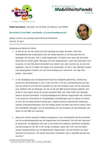 Sadik Harchaoui, voorzitter van de Raad van Bestuur van ... - Zestor