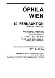 69. FERNAUKTION - Öphila Wien