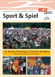 16. Bremer Kindertag im Zeichen der Maus - LBSV Bremen
