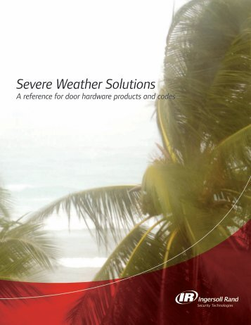 Severe Weather Solutions - Security Technologies