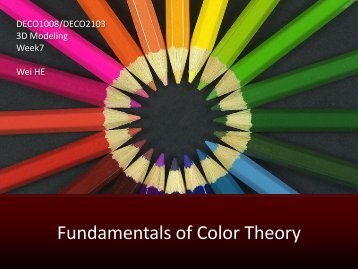 Fundamentals of Color Theory