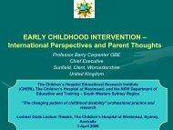 EARLY INTERVENTION - CHERI - The Children's Hospital ...