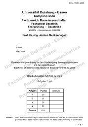 Universität Duisburg - Essen Campus Essen Fachbereich ...
