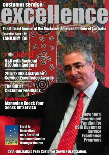 Issue 30 - Customer Service Institute of Australia