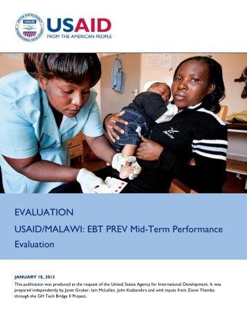 Malawi EBT PREV Evaluation Final Report - GH Tech