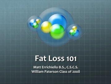 Fat Loss 101 - William Paterson University
