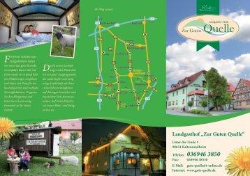 Hausprospekt Landgasthof und Hotel - Zur Guten Quelle