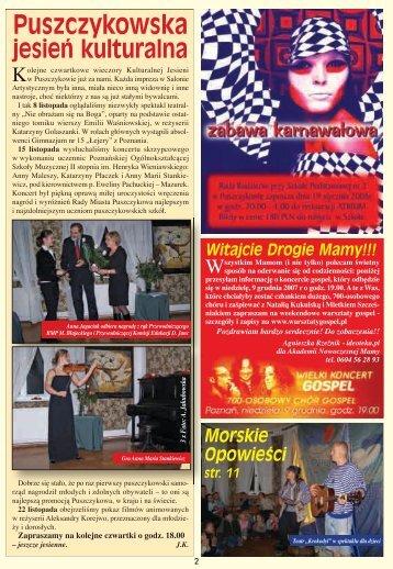 Kurier 71.indd - Stowarzyszenie Przyjaciół Puszczykowa