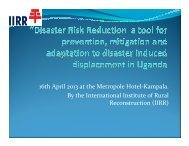 International Institute of Rural Reconstruction - PreventionWeb