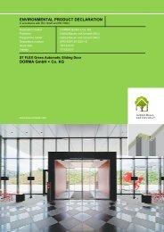 EPD_ST Flex Green_GB - DORMA International