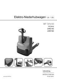 Elektro-Niederhubwagen Levio LWE140 160 - Toyota Material ...