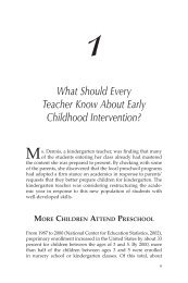 1 What Should Every Teacher Know About Early Childhood ... - Corwin