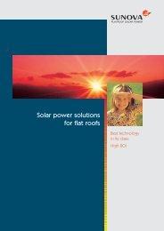 Solar power solutions for flat roofs - Sunova