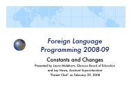 Foreign Language Programming 2008-09 - Glencoe School District 35