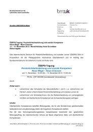 BMUKK-Erlass und Information