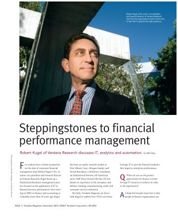 Steppingstones to financial performance management - Teradata