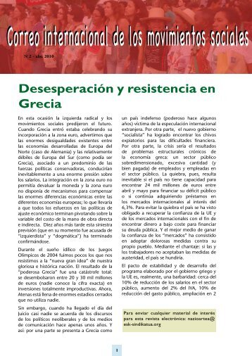 Desesperación y resistencia en Grecia - Viento Sur