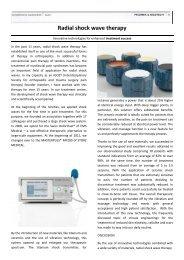Radial shock wave therapy - Shockwave France
