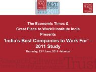 India - Great Place to Work Institute