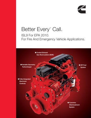 Better Every™ Call. - Cummins Engines