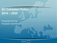 EU Cohesion Policy 2014 – 2020 - Liebe grenzenlos