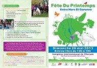 Programme de la FETE du PRINTEMPS 2013 à ... - Ville d'Aucamville