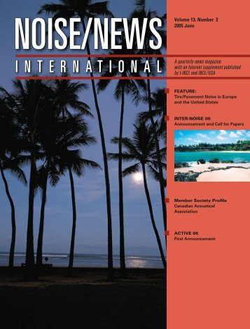 Volume 13, Number 2, June, 2005 - Noise News International